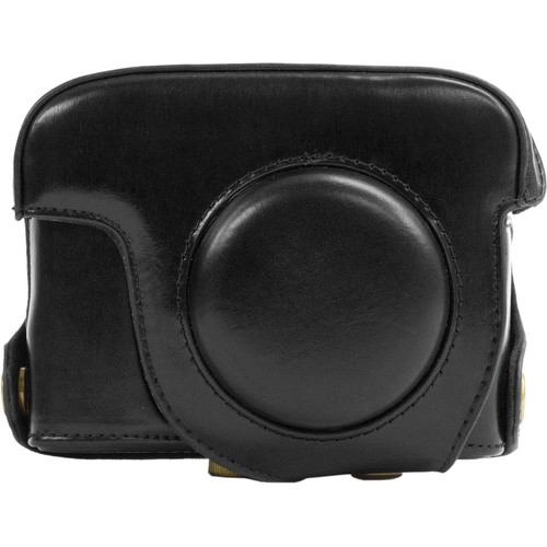 MegaGear Ever Ready Protective Leather Camera Case, Bag for Canon Powershot G15 (Black)