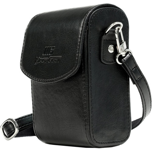 MegaGear Protective Leather Camera Case for PowerShotS120, COOLPIX P340, L28, Lumix ZS50, TZ70, ZS45, TZ57, Select Cyber-Shot (Black)
