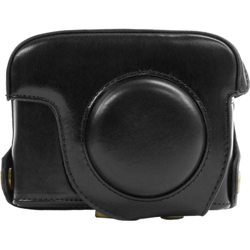MegaGear Ever Ready Leather Camera Case and Strap for Nikon COOLPIX P7700 or P7800 (Black)