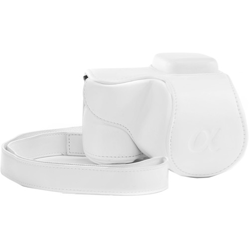 MegaGear MG306 Ever Ready Protective Camera Case for Sony NEX-5T with 16-50mm Lens (White)