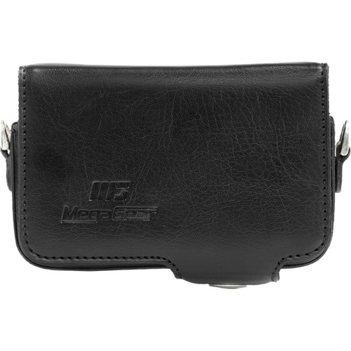 MegaGear PU Leather Camera Case with Strap for Canon PowerShot SX280 HS (Black)