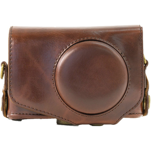 MegaGear Ever Ready PU Leather Camera Case for Canon PowerShot SX280 HS (Dark Brown)