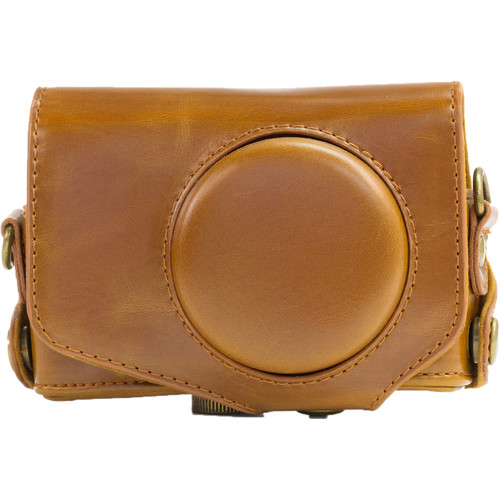 MegaGear Ever Ready PU Leather Camera Case for Canon PowerShot SX280 HS (Light Brown)