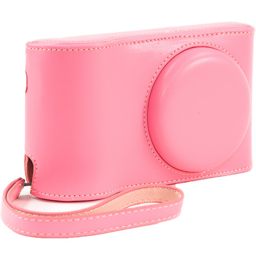 MegaGear Ever Ready PU Leather Camera Case with Strap for Samsung Galaxy Camera GC200, EK-GC110, or EK-GC100 (Pink)