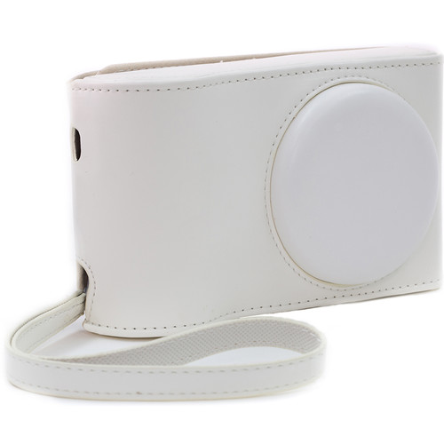 MegaGear Ever Ready PU Leather Camera Case with Strap for Samsung Galaxy Camera GC200, EK-GC110, or EK-GC100 (White)