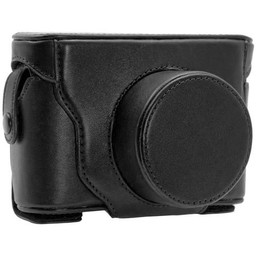 MegaGear Fujifilm Finepix X20, X10 Ever Ready Leather Case Bag Black