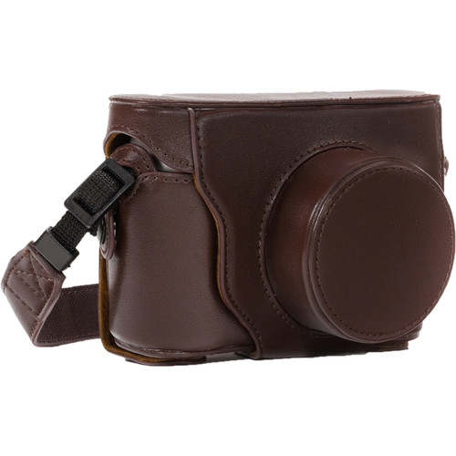 MegaGear Ever Ready PU Leather Camera Case with Strap for Fujifilm X100S (Dark Brown)
