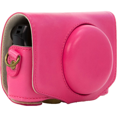MegaGear MG353 Every Ready Camera Case with Strap for Canon PowerShot SX720 HS (Hot Pink)