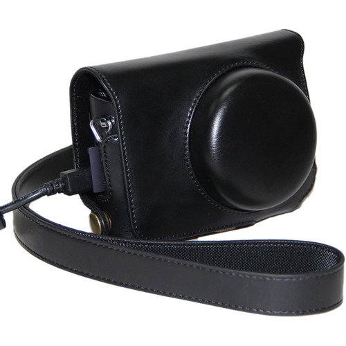 MegaGear Ever Ready Protective Leather Camera Case, Bag for Case for Casio High Speed Exilim EX-10 (Black)