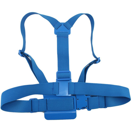 MegaGear Adjustable Chest Body Harness Belt Strap Mount for Select GoPro Cameras (Blue)