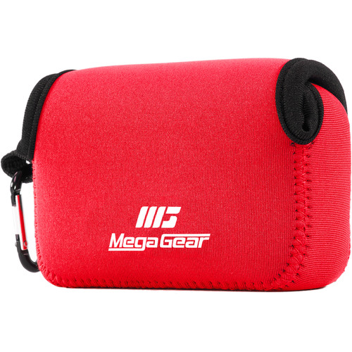 MegaGear Ultra-light Neoprene Camera Case with Carabiner for Canon PowerShot G7X and PowerShot G7 X Mark II Cameras (Red)