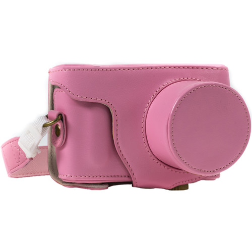 MegaGear MG390 Ever Ready Protective Camera Case and Bag for Samsung NX Mini with 9-27mm Lens (Pink)