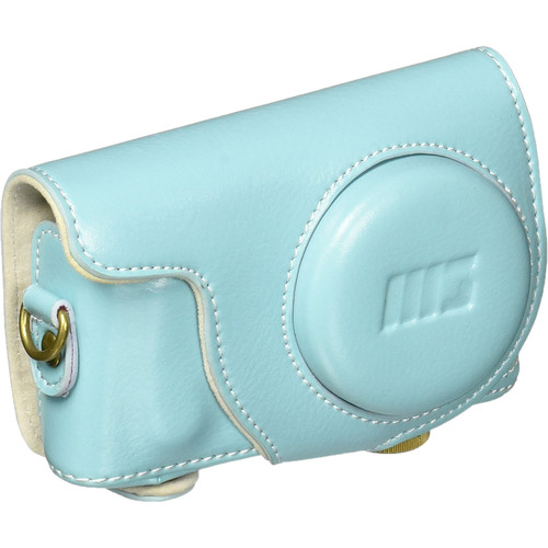 MegaGear Ever Ready PU Leather Case for Samsung NX Mini with 9mm Lens (Blue)