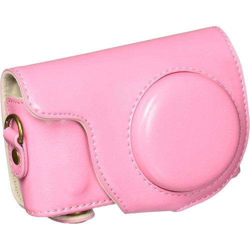 MegaGear Ever Ready PU Leather Case for Samsung NX Mini with 9mm Lens (Hot Pink)