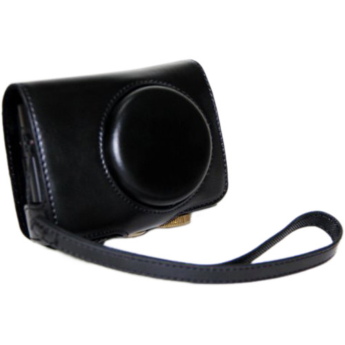 MegaGear Ever Ready Protective Leather Camera Case, Bag for Case for Panasonc LF1 (Black)