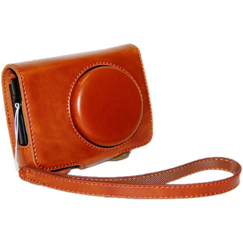 MegaGear Ever Ready PU Leather Camera Case with Strap for Panasonic Lumix DMC-LF1 (Light Brown)