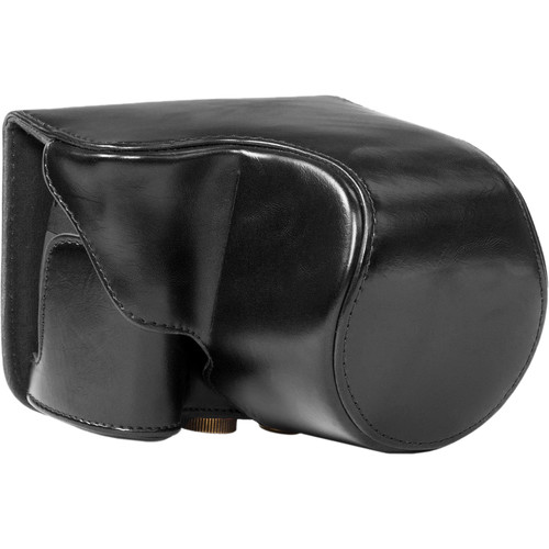 MegaGear Ever Ready Leather Camera Case for Canon PowerShot SX520 HS (Black)