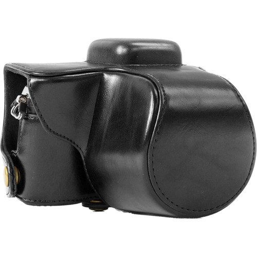 MegaGear Ever Ready Leather Camera Case for Olympus E-PL7 (Black)
