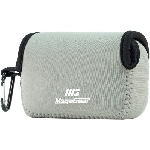 MegaGear Ultra-light Neoprene Camera Case with Carabiner for Canon PowerShot G7X and PowerShot G7 X Mark II Cameras (Gray)