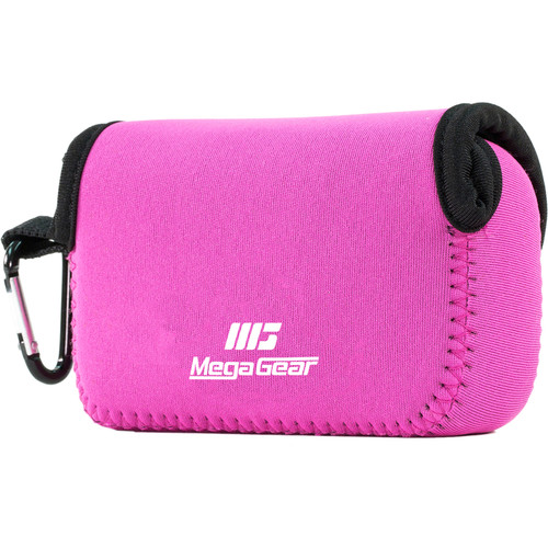 MegaGear Ultra-light Neoprene Camera Case with Carabiner for Canon PowerShot G7X and PowerShot G7 X Mark II Cameras (Hot-Pink)