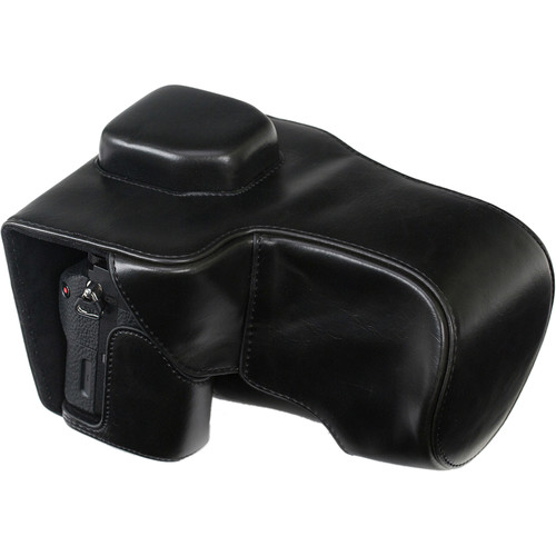 MegaGear Ever Ready Leather Camera Case for Select Sony Alpha Series (Black)