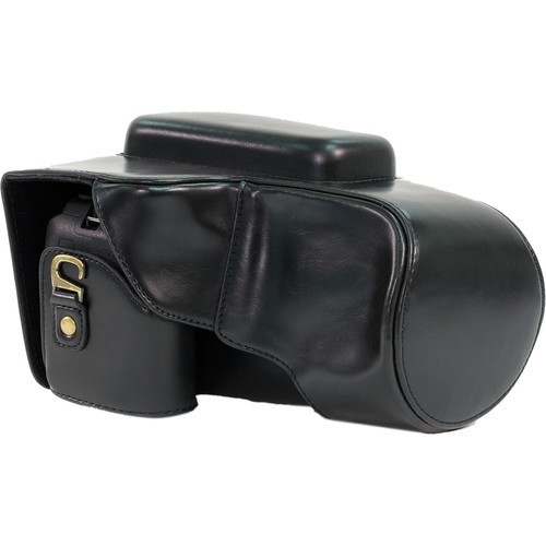 MegaGear Ever Ready Leather Camera Case for Nikon COOLPIX P900/P900S (Black)