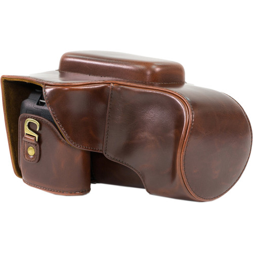 MegaGear Ever Ready Leather Camera Case for Nikon COOLPIX P900/P900S (Dark Brown)