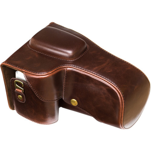 MegaGear Ever Ready Leather Camera Case for Pentax K-S2 with 18-135mm (Dark Brown)