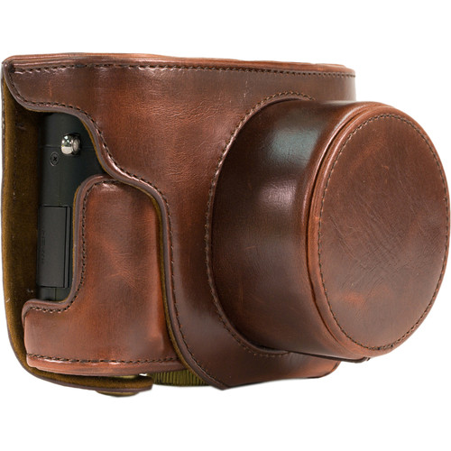MegaGear Ever Ready Leather Camera Case for Leica D-Lux (Typ 109) (Dark Brown)