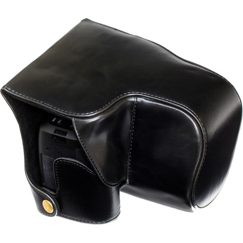 MegaGear Ever Ready Leather Camera Case for Leica V-Lux (Typ 114) (Black)
