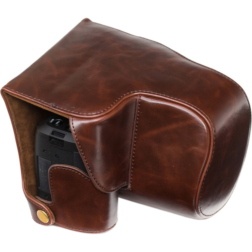 MegaGear Ever Ready Leather Camera Case for Leica V-Lux (Typ 114) (Dark Brown)