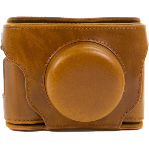 MegaGear Ever Ready Leather Camera Case for Fujifilm X30 (Light Brown)