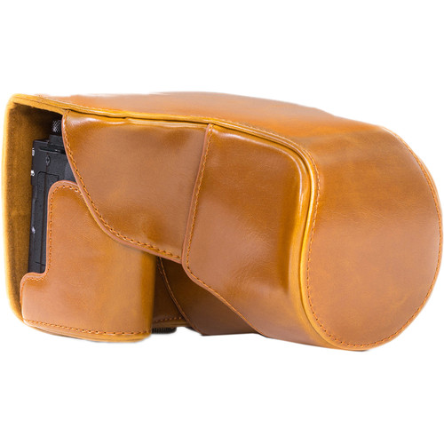 MegaGear Ever Ready PU Leather Camera Case with Strap for Canon PowerShot G3 X (Light Brown)