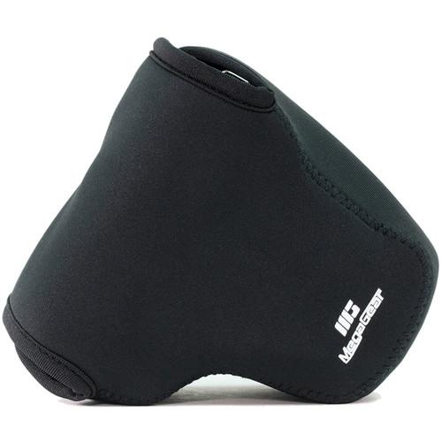 MegaGear Ultra-Light Neoprene Camera Case with Carabiner for Canon PowerShot G3 X (Black)