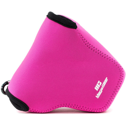 MegaGear Ultra-Light Neoprene Camera Case with Carabiner for Canon PowerShot G3 X (Hot Pink)