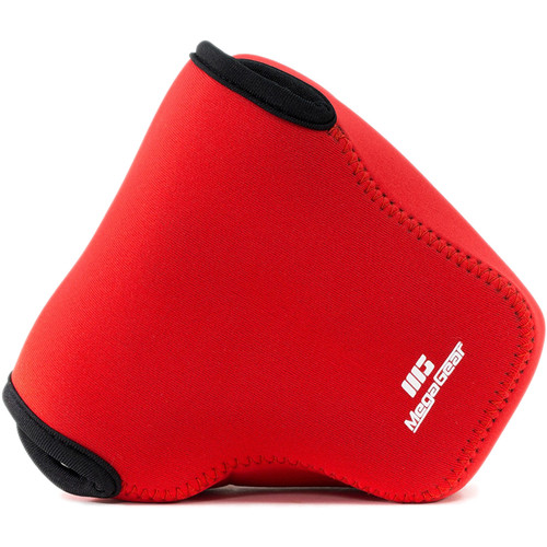 MegaGear Ultra-Light Neoprene Camera Case with Carabiner for Canon PowerShot G3 X (Red)