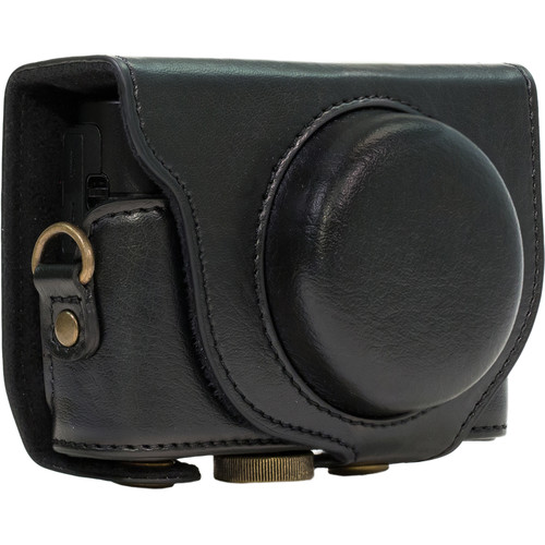 MegaGear Ever Ready Leather Camera Case for Sony Cyber-shot DSC-RX100 IV (Black)
