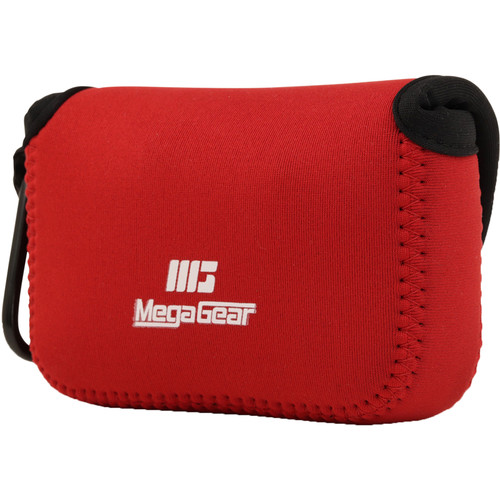 MegaGear Ultralight Neoprene Camera Case for Sony and Olympus Cameras (Red)