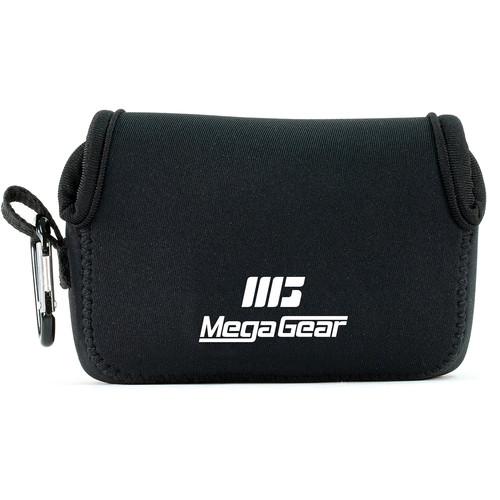 MegaGear Ultra-light Neoprene Camera Case with Carabiner for Sony Cyber-shot DSC-HX90V and DSC-HX80B Cameras (Black)