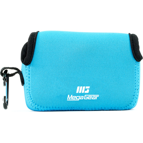 MegaGear Ultra-light Neoprene Camera Case with Carabiner for Sony Cyber-shot DSC-HX90V and DSC-HX80B Cameras (Blue)