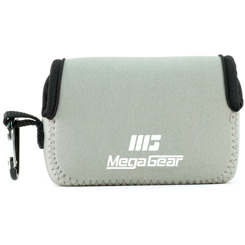 MegaGear Ultra-light Neoprene Camera Case with Carabiner for Sony Cyber-shot DSC-HX90V and DSC-HX80B Cameras (Gray)