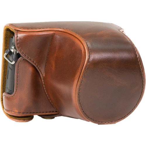 MegaGear Ever Ready PU Leather Case with Strap for Panasonic LUMIX DMC-GM5 with 12-32mm Lens (Dark Brown)