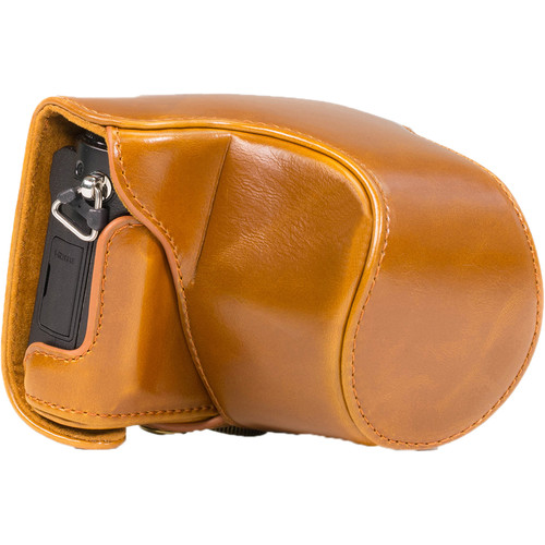 MegaGear Ever Ready Protective Leather Camera Case for Panasonic Lumix DMC-GM5 with 12-32mm Lens (Light Brown