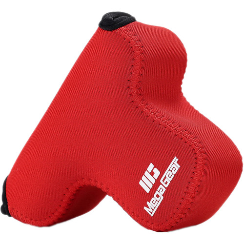 MegaGear Ultra-Light Neoprene Case for Canon EOS M3 with 18-55mm (Red)