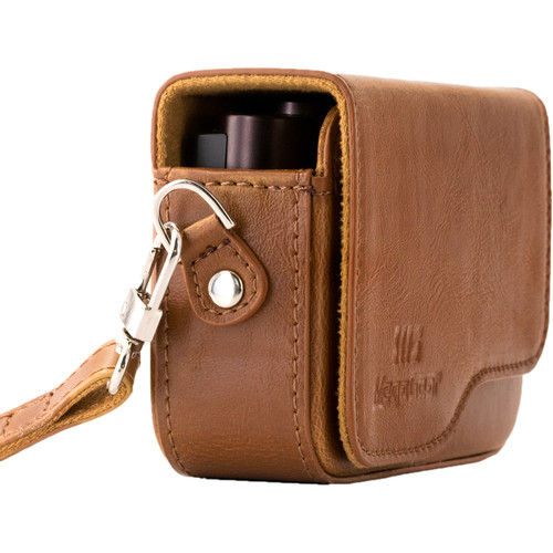 MegaGear Ever Ready PU Leather Camera Case with Strap for Canon PowerShot G9 X Mark II (Brown)