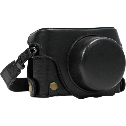 MegaGear PU Leather Camera Case for Panasonic Lumix DMC-LX100 (Black)