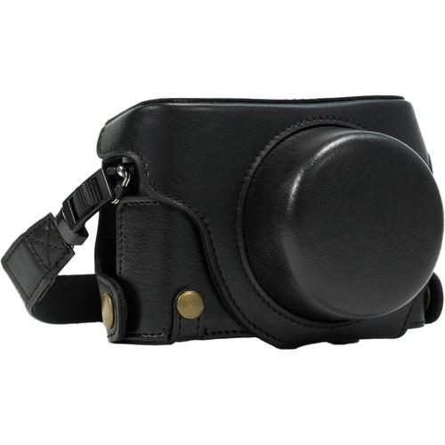 MegaGear Ever Ready Leather Camera Case for Panasonic LUMIX DMC-LX100 (Black)