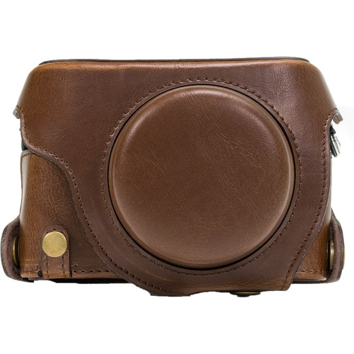 MegaGear PU Leather Camera Case for Panasonic Lumix DMC-LX100 (Dark Brown)