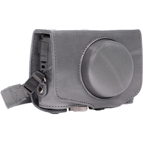 MegaGear Ever Ready PU Leather Camera Case with Strap for Canon PowerShot SX720 HS or SX710 HS (Gray)
