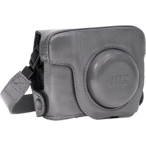 MegaGear PU Leather Camera Case and Strap for Canon PowerShot G16 (Gray)
